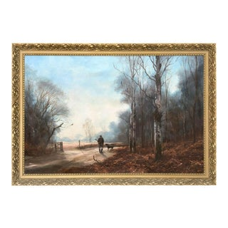 Pheasant Hunting Oil Painting, John Trickett (1952 - ) For Sale
