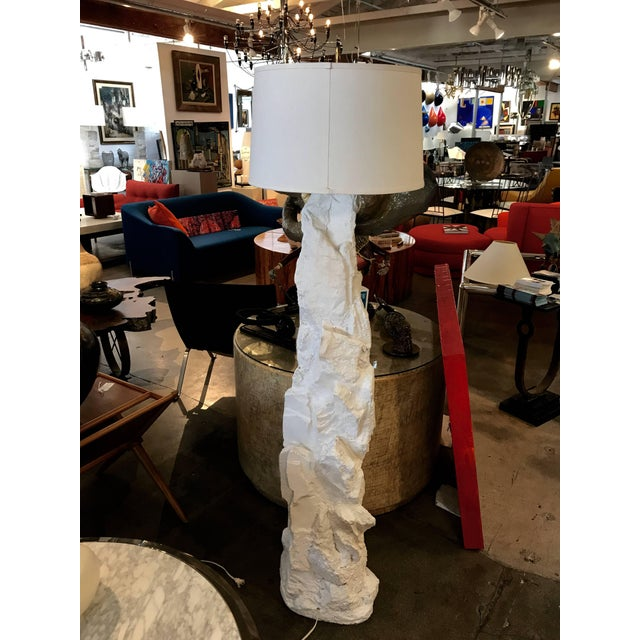 Plaster Rock Floor Lamp For Sale - Image 4 of 12