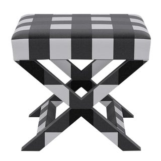 X Bench in Black Check For Sale