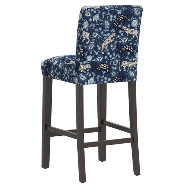 Bar stool in Leopard Blue For Sale - Image 4 of 8