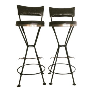 Mid-Century Vintage Atomic Barstools- A Pair For Sale