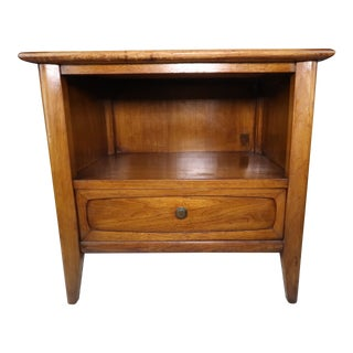 1960s Mid Century Modern Drexel Walnut Nightstand For Sale