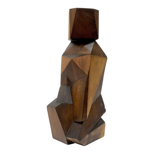Signed Cubist Abstract Figure Sculpture - Image 1 of 6