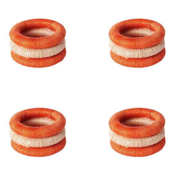 Stripe Napkin Rings Papaya & Blush For Sale