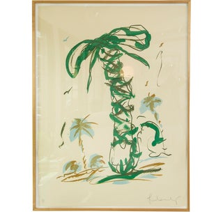 1990s Claes Oldenburg, Sneaker Lace in Landscape With Palm Trees, Lithograph For Sale