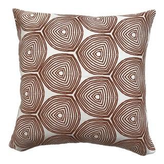 Greige Textiles Ward Burnt Orange on Oyster Pillow For Sale
