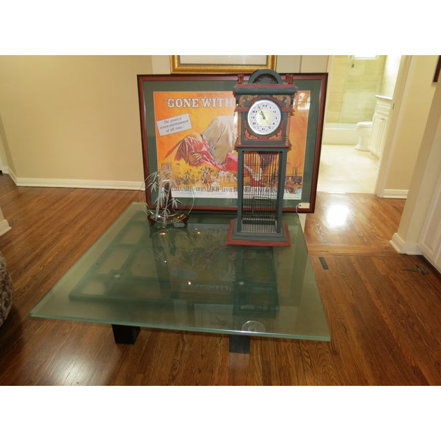 New Italian Square Glass Top Coffee Table - Image 8 of 9