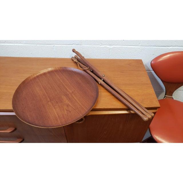 Animal Skin 1950s Swedish Ary Fanerprodukter Nybro Teak Tray Table For Sale - Image 7 of 8