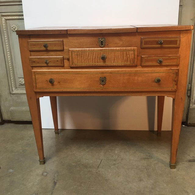 Brown 18th Century Louis XVI Dressing Table, Coiffeuse For Sale - Image 8 of 13