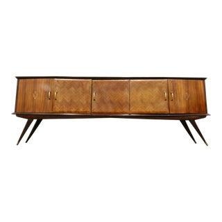 Mid-Century Modern Italian Wooden Sideboard