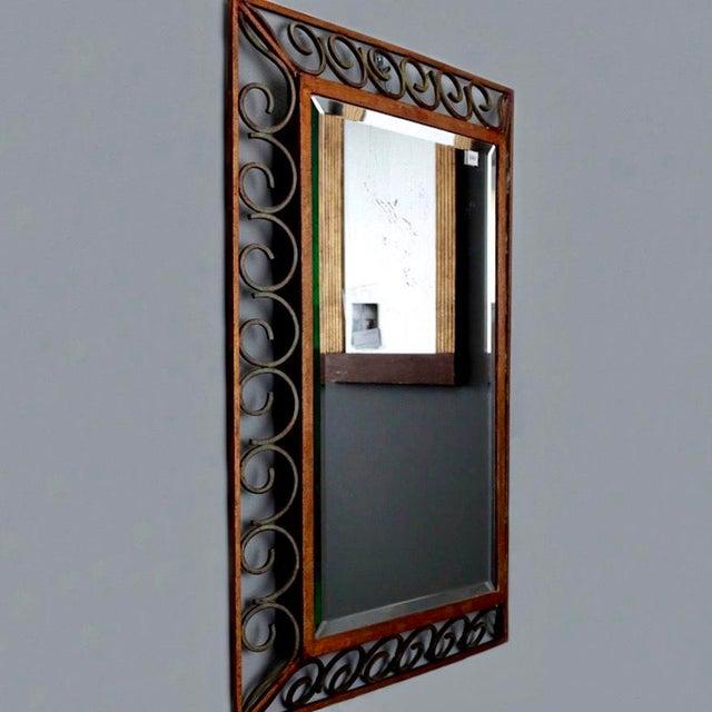 French Art Deco Gilt Iron Framed Rectangular Mirror - Image 4 of 7
