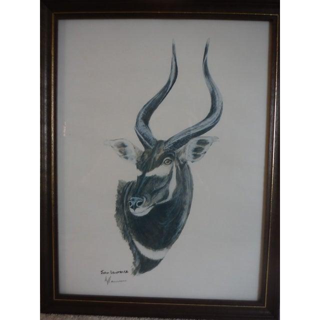 """""""Savannah Animal's"""" Pen & Ink Drawings - A Pair - Image 8 of 10"""