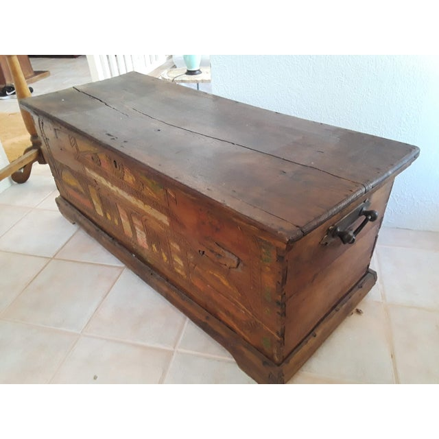 Asian 1980s Javanese Teak Wood Chest For Sale - Image 3 of 13