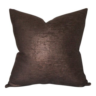 "Glimmer Bronze Pillow Cover 22"" Sq"