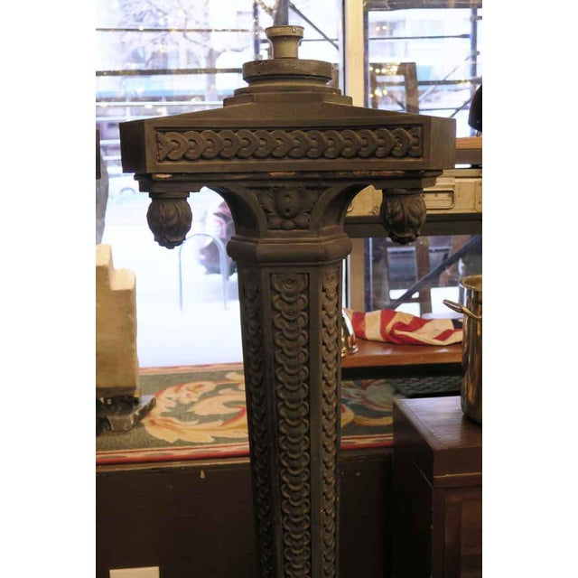 Traditional Cast Iron Exterior Claw Foot Lamp Posts - a Pair For Sale - Image 3 of 12
