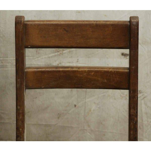 Mid-Century Modern Small Wooden School Chair For Sale - Image 3 of 5