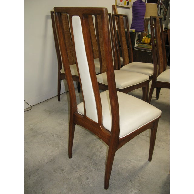 Walnut and Cane Dining Chairs by John Stuart- Set of 6 For Sale In Charleston - Image 6 of 11