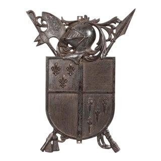 Cast Iron Knight Plaque