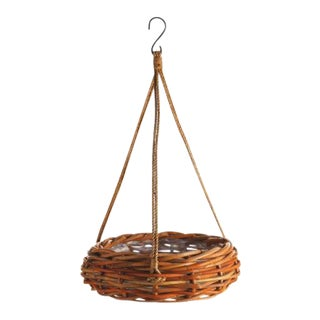 Rattan Hanging Basket from Kenneth Ludwig Chicago For Sale