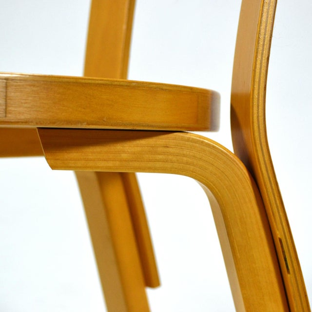 Tan Alvar Aalto Pair of Model 66 chairs For Sale - Image 8 of 11