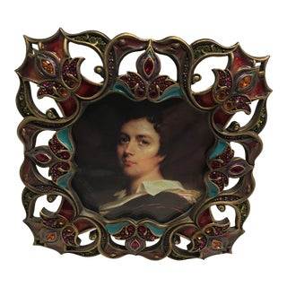 Jay Strongwater Jeweled Square Frame For Sale