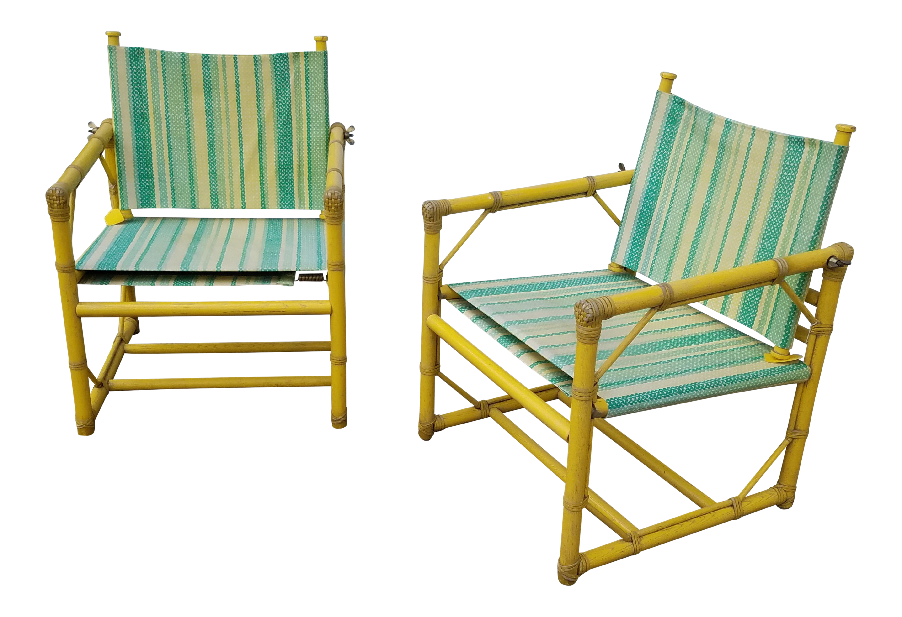 McGuire Furniture Rattan Patio Chairs   A Pair