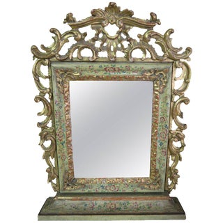 19th Century Painted and Giltwood Mirror For Sale