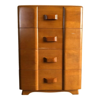 Vintage Mid Century Modern Heywood Wakefield Highboy Dresser For Sale