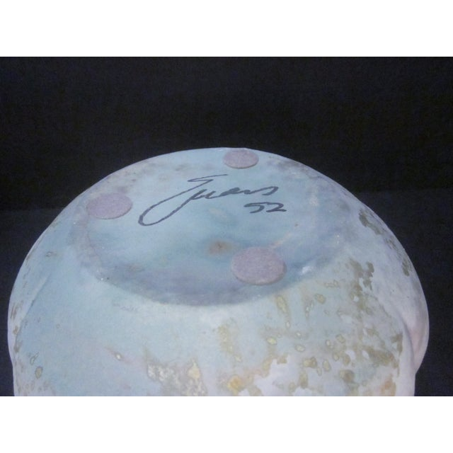 Lucite Sculpture Ceramic Raku Pottery Tony Evans - Image 9 of 11