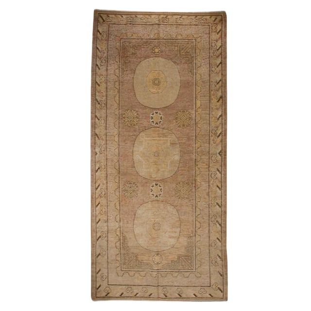 """19th Century Central Asian Samarghand Carpet - 4'10"""" x 10'4"""" For Sale"""
