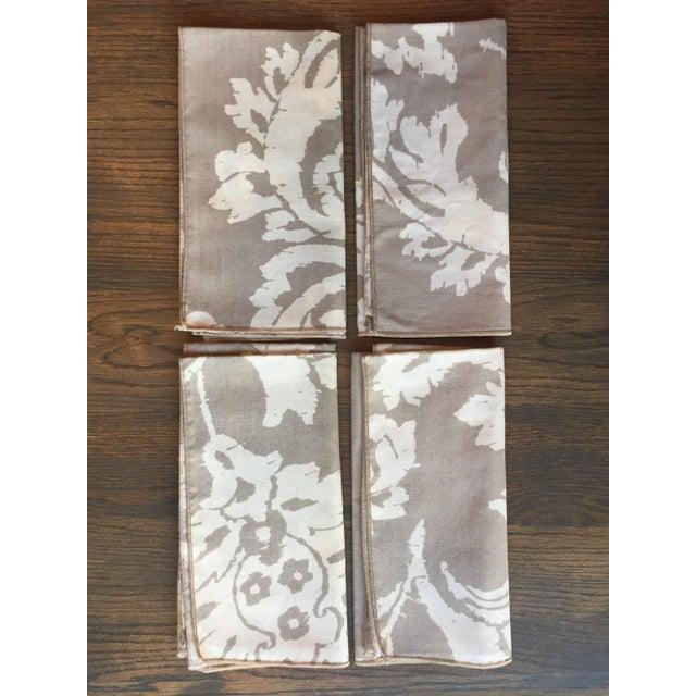 Vintage Taupe Ikat Napkins - Set of 4 - Image 2 of 7