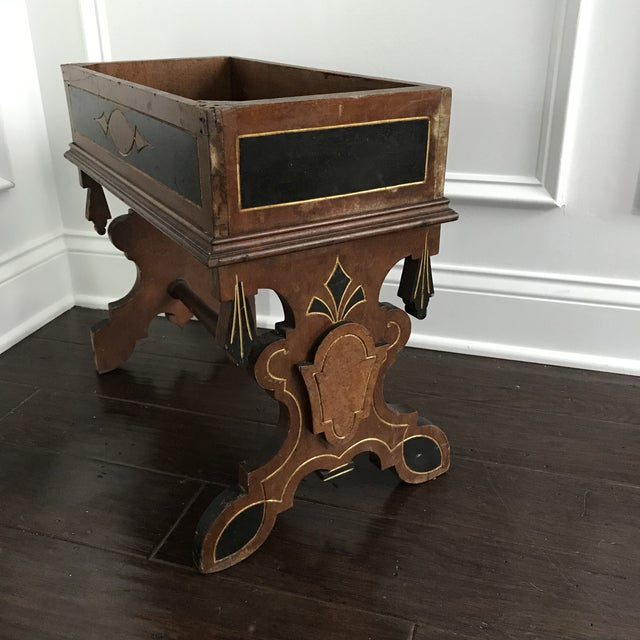 19th Century Victorian Wooden Plant Stand For Sale - Image 4 of 6