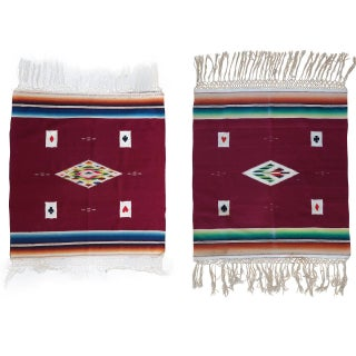 1920s Serapi Card Table Weavings - A Pair For Sale