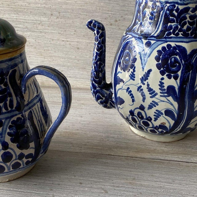 1920s Mexican Tea Pots & Creamer - Set of 2 For Sale - Image 9 of 13