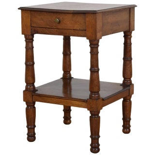 French Louis Philippe Walnut Two-Tier Side Table For Sale