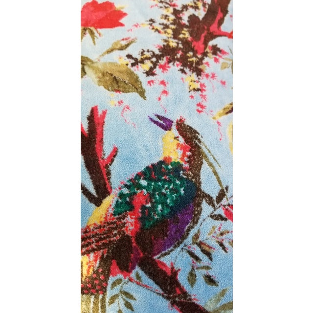 A pair of bejeweled cotton velvet pillow covers. Super soft with a chinoiserie bird design. Hidden zipper closure. Grey...