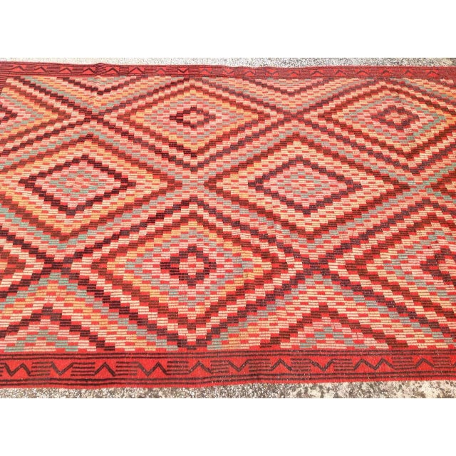 "Vintage Turkish Kilim Rug - 6' x 9'11"" For Sale - Image 4 of 7"