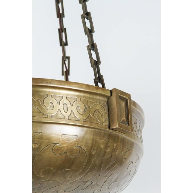 Moorish Style Acid Etched Bowl Fixture - Image 3 of 6
