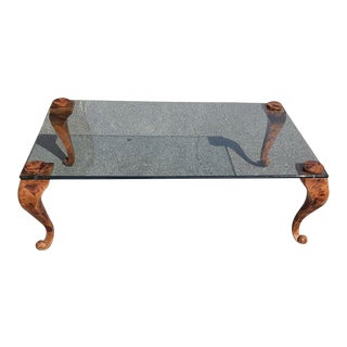 Vintage Maitland Smith Style Tessellated Stone Coffee Table For Sale