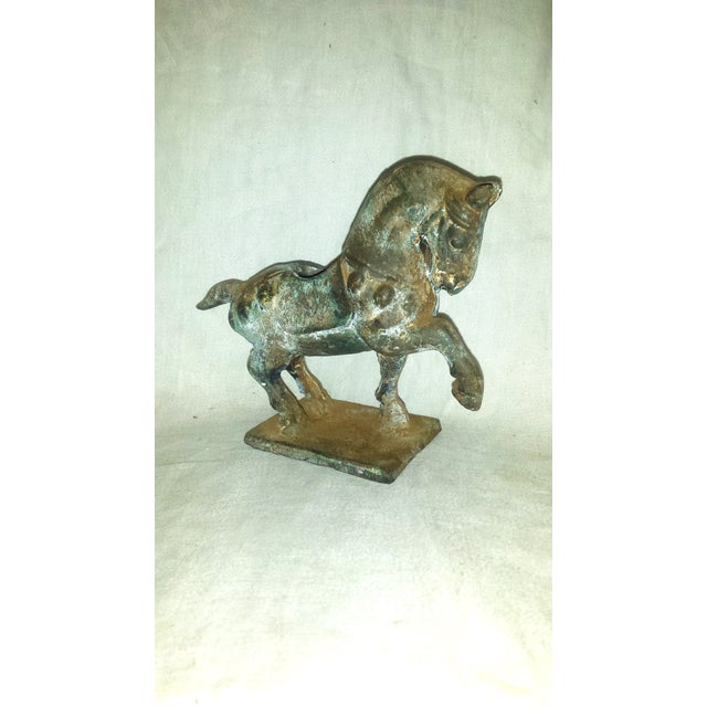 Antique Chinese Cast Iron Tang Horse Figurine - Image 2 of 7