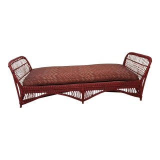Victorian to Early Mid-Century Wicker Daybed
