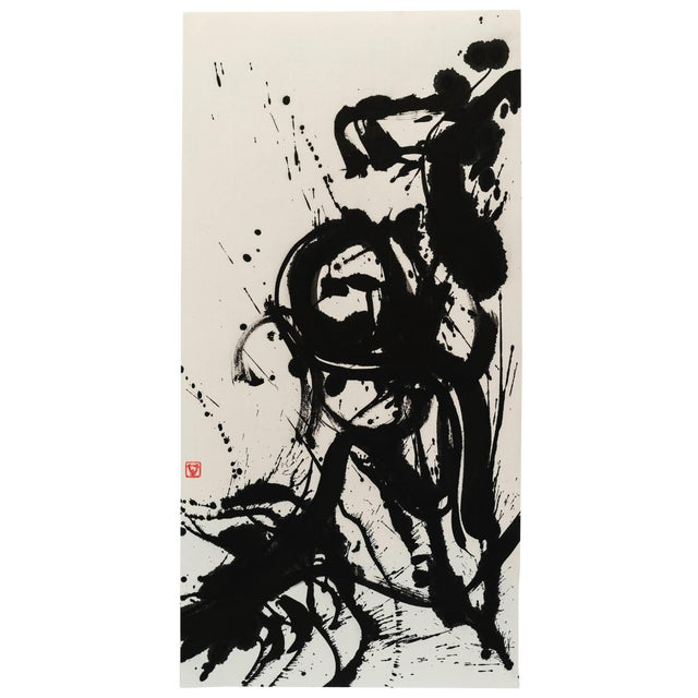 "Ayan Rivera "" Symphony"" Sumi Ink Original For Sale"