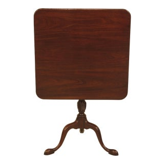 Kittinger Cw-69 Colonial Williamsburg Mahogany Tilt Top Table