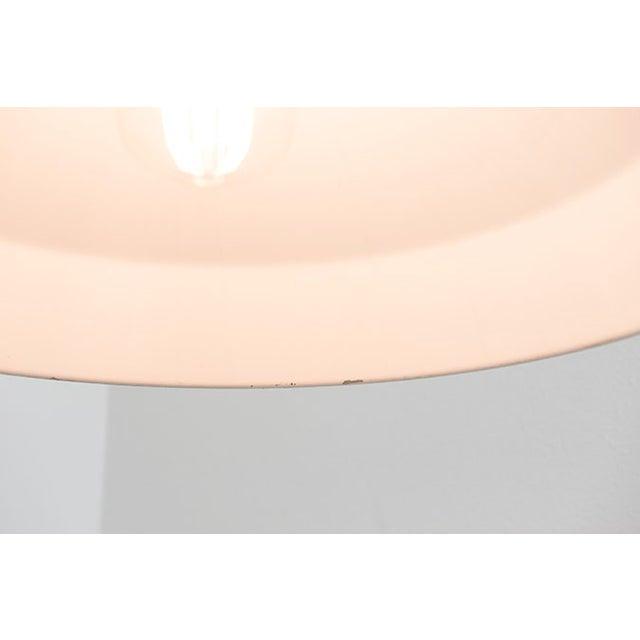 Red Enamel Industrial Pendant Lamp - Image 4 of 4