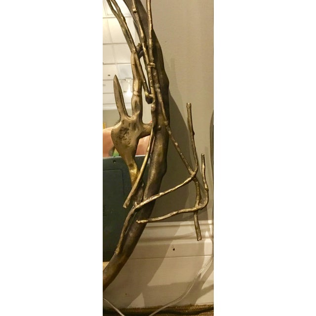 Transitional Arteriors Home Brass Ivy Wall Mirror For Sale In Atlanta - Image 6 of 9