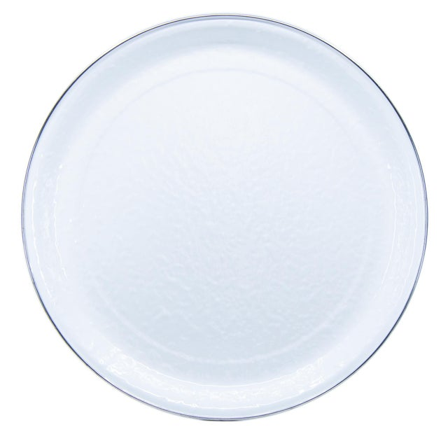 Modern Large Tray White on White For Sale - Image 3 of 3