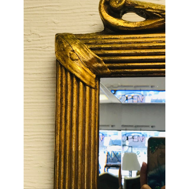 Prince of Wales Gilded Ribbon Wood Carved Mirror For Sale - Image 9 of 10