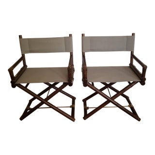 Vintage McGuire Director's Chairs- A Pair For Sale