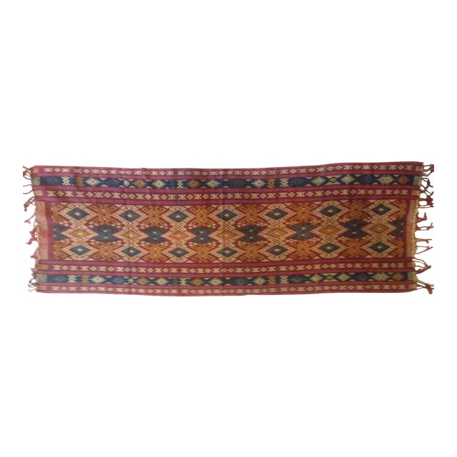 "Traditional Indonesian ""Luka"" Shawl - Image 1 of 4"