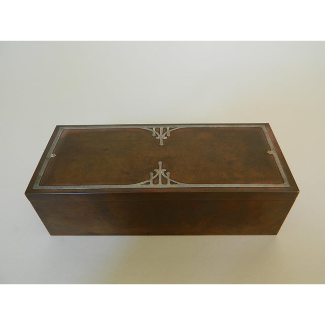 Heintz Silver Inlay & Bronze Cigar Box For Sale In New York - Image 6 of 6
